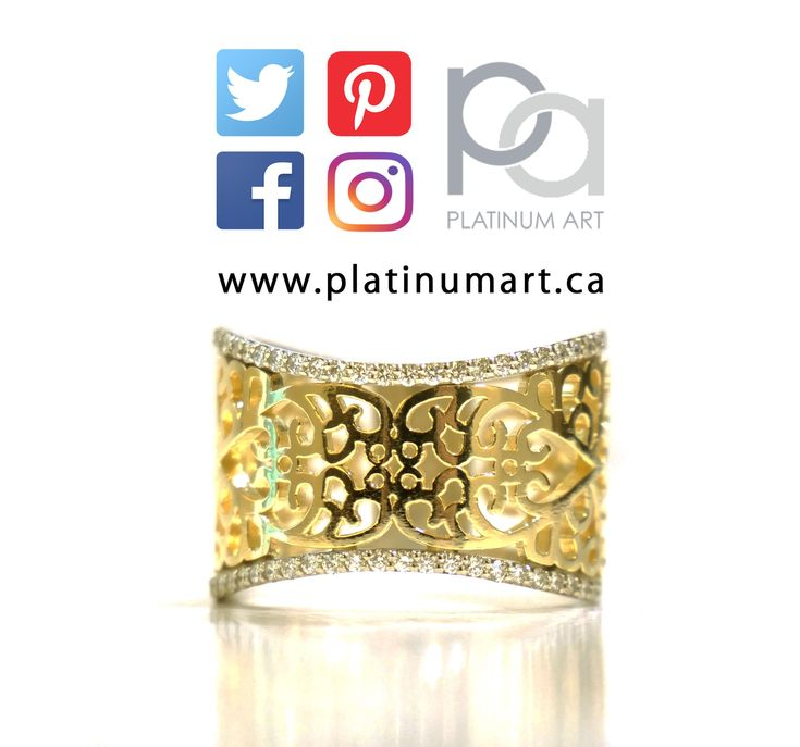 We love being able to bring these fun kinds of ring designs to life.  Message us to get started on yours.  www.platinumart.ca  #Style #Cool #gilded #intricate #gold #ring #jewellery #jewelry #fashion #art #beauty #bright #positive #diamonds #cute #ornate