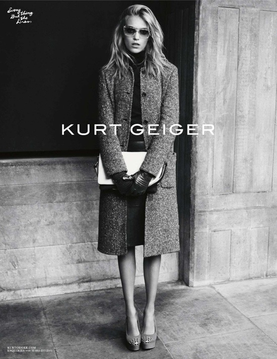 Kurt Geiger Fall 2012 Campaign - Anja Rubik