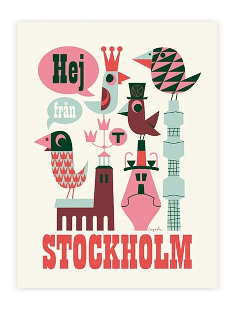 Hej Stockholm! (50x70cm)