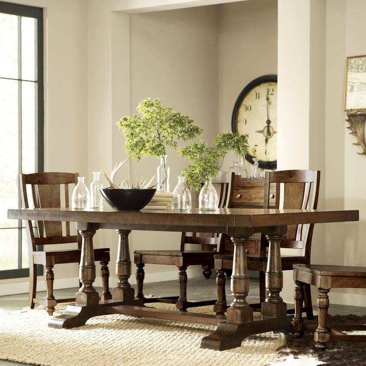 Riverside Newburgh Rectangle Trestle Dining Table   $1019.25 @hayneedle