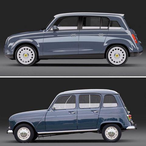 Design : Renault 4L, le idea de David Obendorfer
