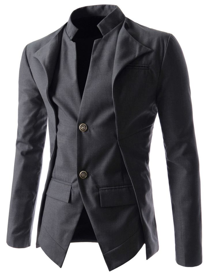 njk7 slim fit double collar 2 button blazer jacket. Black Bedroom Furniture Sets. Home Design Ideas