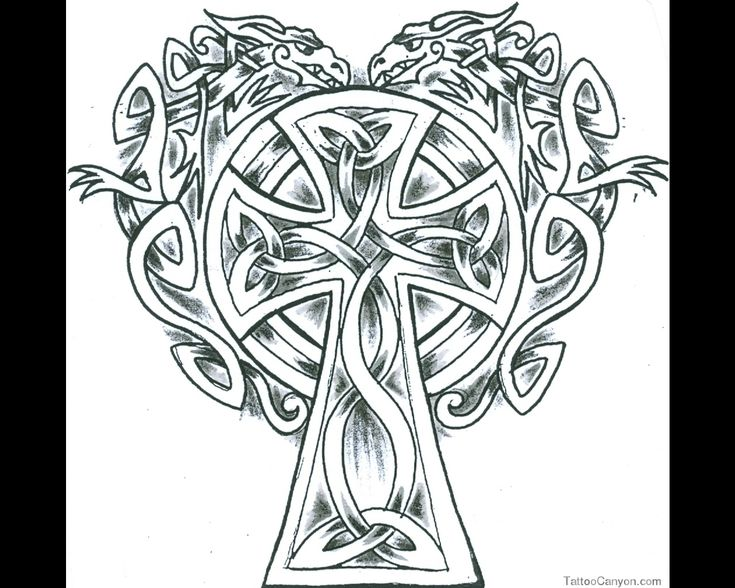 Celtic Cross Coloring Pages | Very Nice Fine Elaborate Knotwork Celtic Cross With Two Picture #