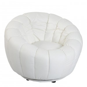SILLON OVAL GIRATORIO BLANCO  WHITE OVAL SWIVEL ARMCHAIR  #armchair #sillón