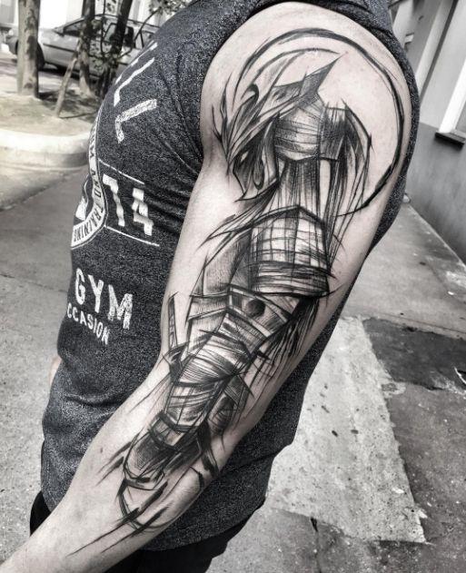 Cool Gladiator Tattoo