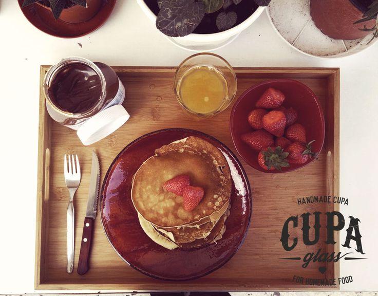 #Pancake #Plate Handmade glass dinnerware by Cupa Glass