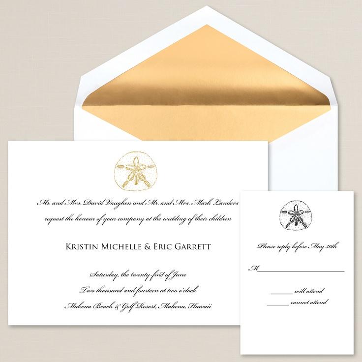 16 best fairytale wedding images on pinterest fairytale weddings elegant sand dollar wedding invitation exclusivelyweddings beachwedding stopboris Image collections