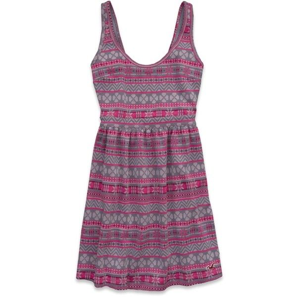Hollister Moonlight Beach Skater Dress ($25) ❤ liked on Polyvore featuring dresses, pink print, ruched dress, vintage dresses, skater dress, purple vintage dress and embroidered dress