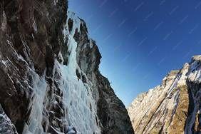 Eisklettern mit dem Bergführer von alpindis.at im Nationalpark Hohe Tauern