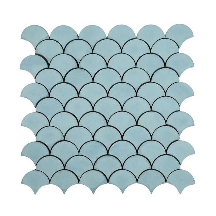 Buy Granada Tile Minis Collection Scale - aqua by Granada Tile - Quick Ship designer Accessories from Dering Hall's collection of Organic Rustic / Folk Traditional Transitional Miscellaneous.