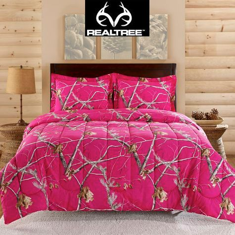 #NEW Realtree Bright Pink Camo Comforter Set #Realtreecamo