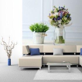 Fototapeta na ścianę - Piękne bukiety kwiatów na stole   Photograph wallpaper - Bouquet on table   104PLN #fototapeta #dekoracja_ściany #home_decor #interior_decor #photograph_wallpaper #wallpaper #flower #bouquet #bukiet_na_ścianie #kwiaty #bukiet_kwiatów #table #bouquet_on_table