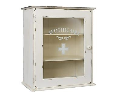 Petite armoire à pharmacie, blanc - H55