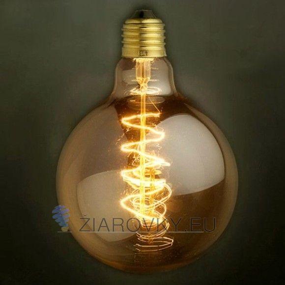EDISON žiarovka - SPRIAL SPHERE - E27, 40W, 140lm