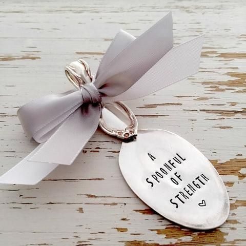 Spoon ornament – timing is everything – wedding keepsake – baby – anniversary gift – dated – your ribbon colors – silver spoon hand stampedLynnice