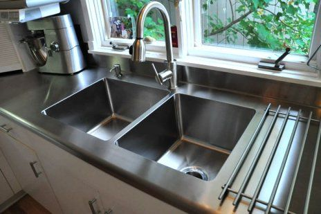 17 best images about sweet sink on pinterest stainless for Stainless steel countertop with integral sink