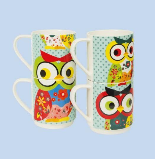 4'lü Baykuş Kupa Setimiz ile kahve ve çayınızı keyifle için... http://www.karincadesign.com/fincan-ve-kupa