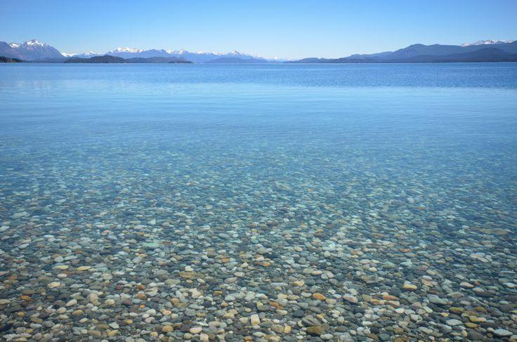 Transparencia del lago Nahuel Huapi.