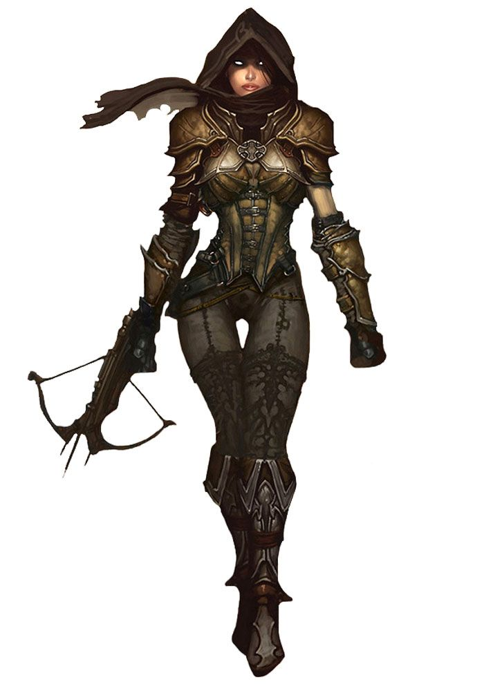 I was looking at the arm...honest  Demon Hunter Female - Pictures & Characters Art - Diablo III