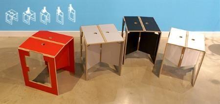 Folding Stool Falter by dreipunkt 4, 2003 - Designer furniture by smow.com