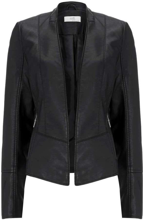 Petite Black Biker Jacket