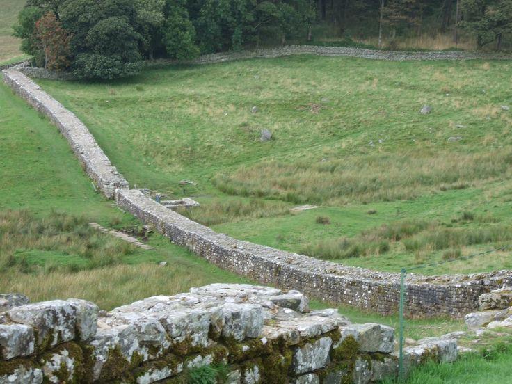 Hadrian's Wall, separating England and Scotland which Adrian had to cross to see his first battle.