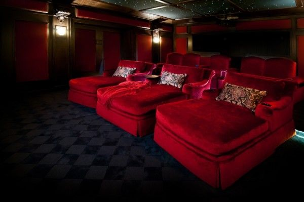 Elite home theater seating designs cool home theater for Home theater seating design ideas