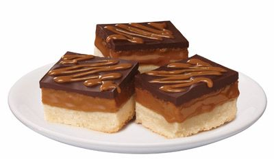 Caramel Shortbread bars, using Eagle Brand Dulce de Leche condensed milk...another possible teacher gift?