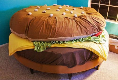 This is a bed.... I can totally see some people having....interesting... I can imagine you'd be having some very odd dreams with this bed.