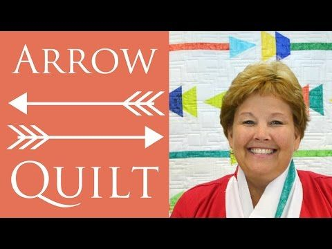 The Arrow Quilt Using Sizzix Die Cuts: Easy Quilt Tutorial by Jenny Doan of Missouri Star Quilt Co - YouTube