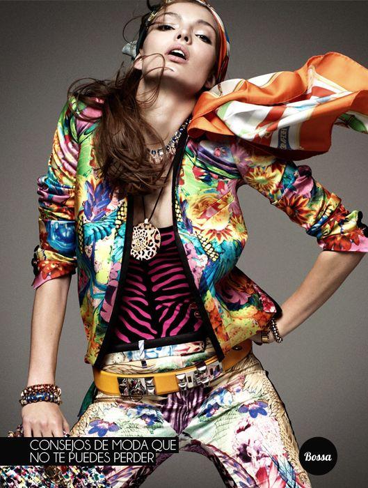 Consejos de moda.: Fashion Style, Carola Remer, Greg Kadel, Fashion Prints, Vogue Germany, Mixed Prints, Fashion Photography, Gregkadel, Bright Colors