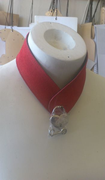 Red Suede Collar