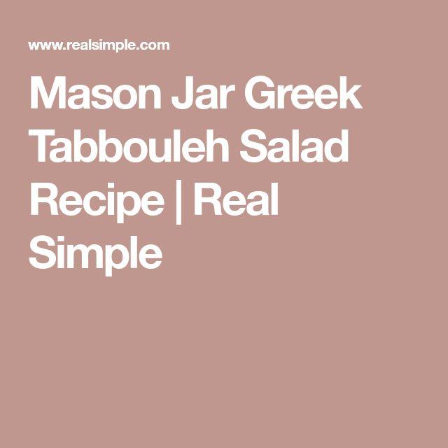 Mason Jar Greek Tabbouleh Salad Recipe | Real Simple