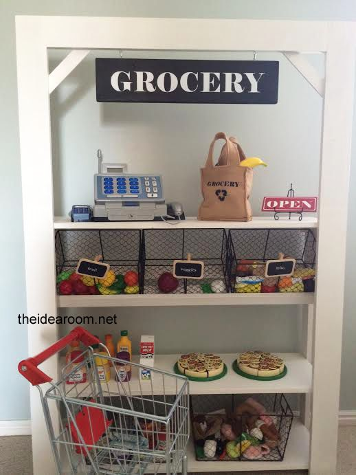 DIY Grocery Store  Maybe for Christmas one year.
