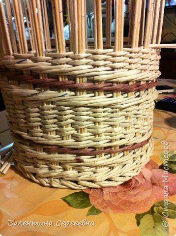 Поделка изделие Новый год Плетение Повторение узора Трубочки бумажные фото 2