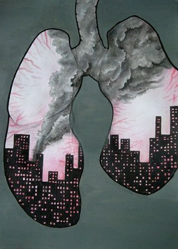 imagenes de la contaminacion atmosferica para niños