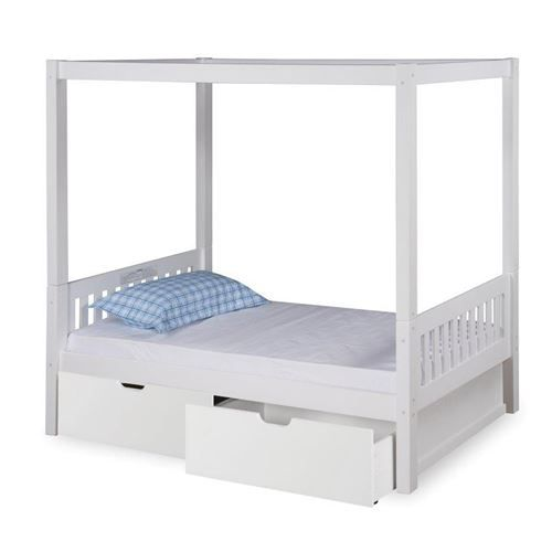 Expanditure EX801 Twin Mission Canopy Bed with Drawers