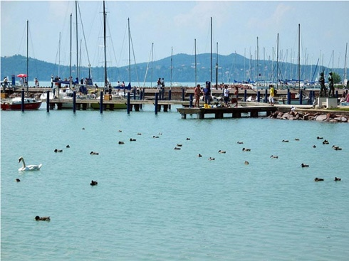 Lake Balaton in Hungary