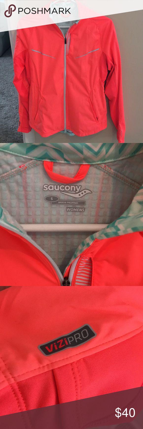 Saucing Reflective Women's Running Jacket Brand New running jacket, never worn Saucony Jackets & Coats Utility Jackets