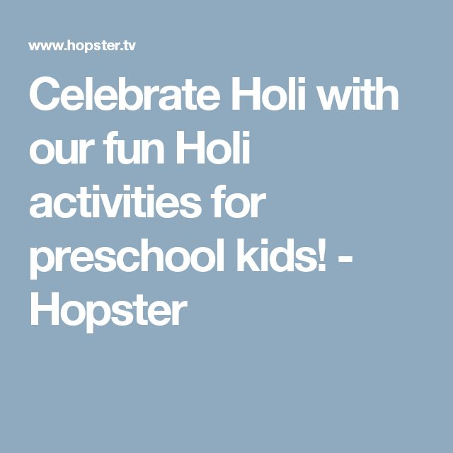 Celebrate Holi with our fun Holi activities for preschool kids! - Hopster