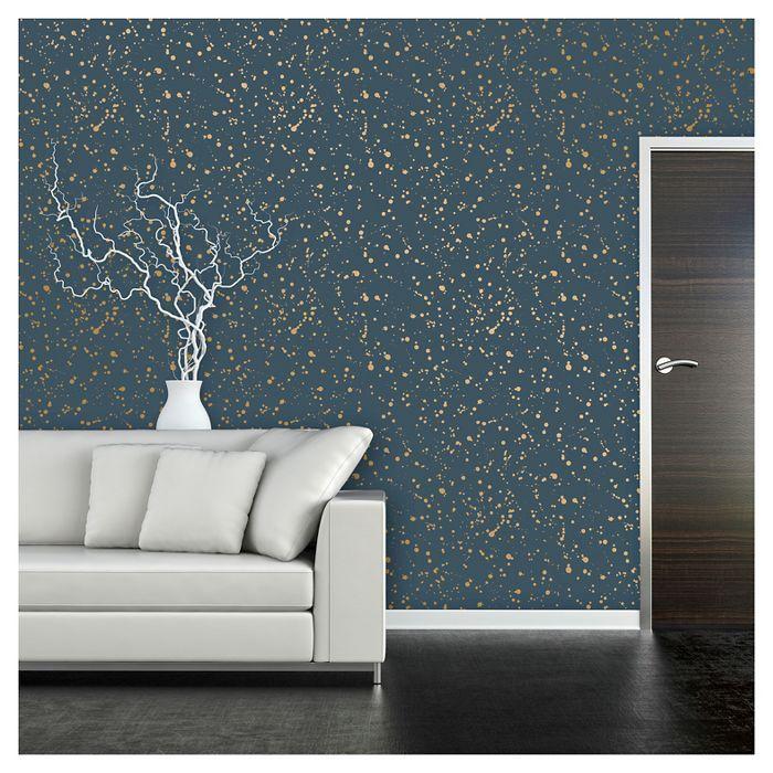 Celestial Peel Stick Wallpaper Navy Gold Opalhouse Peel And Stick Wallpaper Metallic Wallpaper Accent Wall
