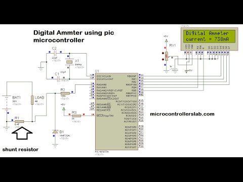 Voltmeter using 8051
