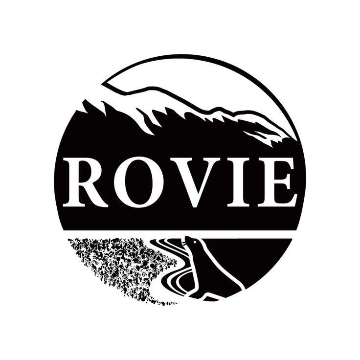 Branding Project for RoVie Make-up www.rovie.co.nz - Kaikoura, New Zealand. Branding, logo design, modern, monochrome, stamp, mountain, beach, beauty, icon, New Zealand, nature, wildlife.