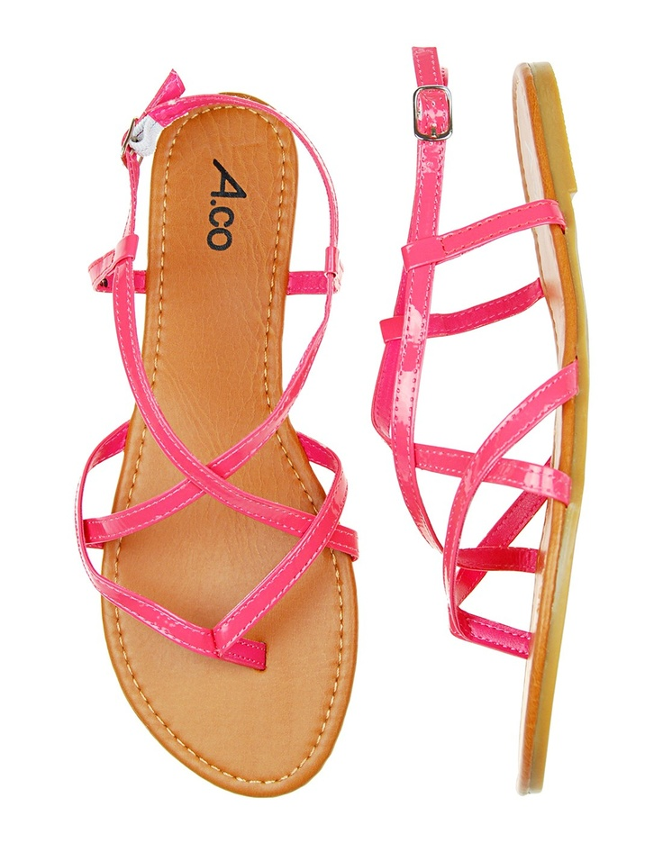 Strappy patent sandals