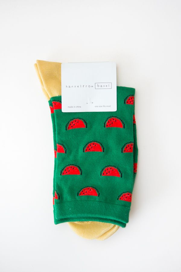 Hansel From Basel Watermelon Crew Sock - @ Parc Boutique