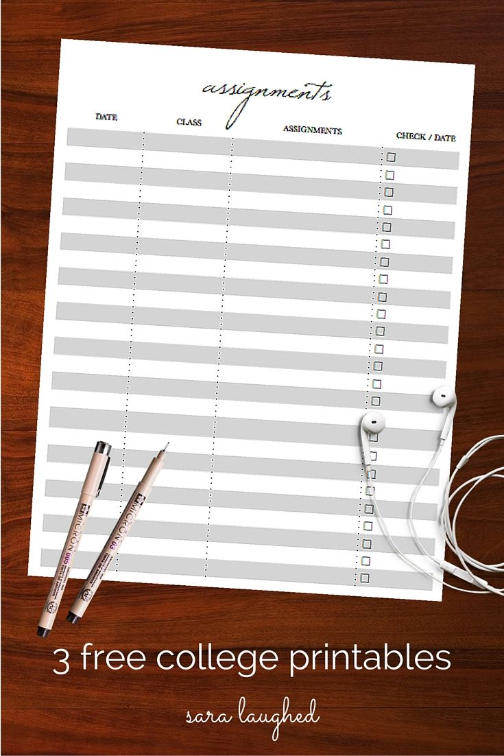 17 best ideas about assignment sheet college 3 printables for college students do yourself a favor set yourself up for
