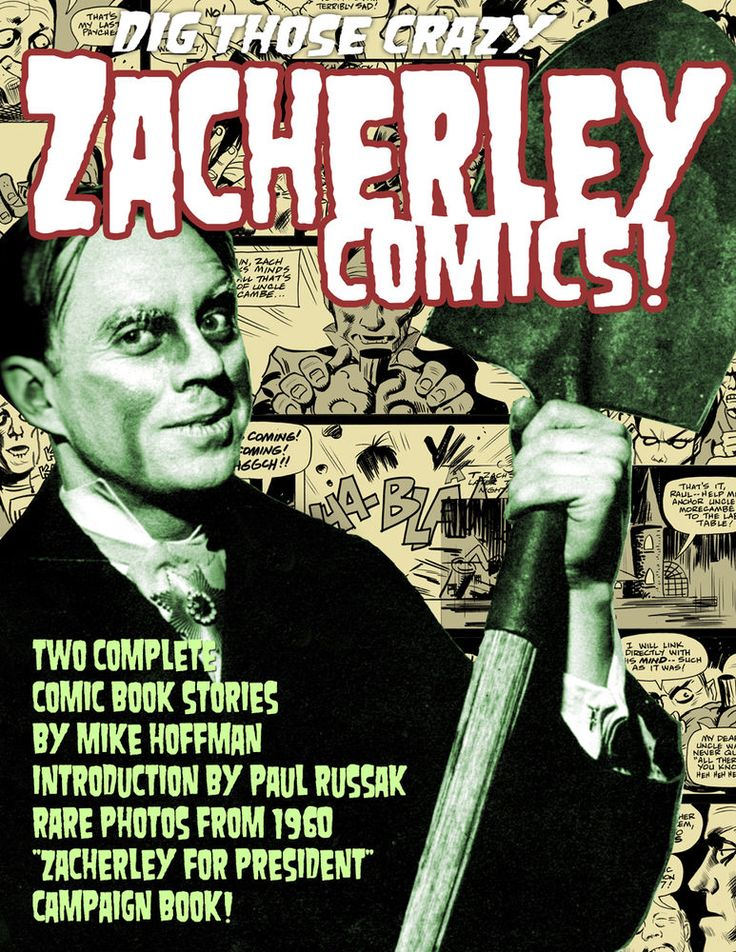 DIG THOSE CRAZY ZACHERLEY COMICS! Horror Host by Mike Hoffman! Monsters! Signed!