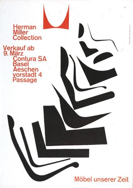 Hermann Miller Collection - Möbel unserer Zeit - Verkauf ab 9. März-Plakat