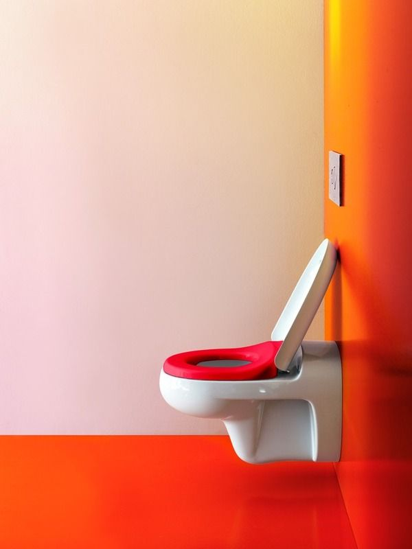 Trendy and playful bathroom ideas for kids!  You can never have too much fun with colour!