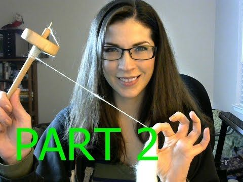 Basic Drop Spindle Tutorial Part 2 - Finishing Your Yarn - YouTube